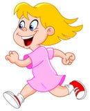 Little girl running. Illustration of a little girl running Stock Photography