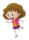 Little girl running alone. Illustration Royalty Free Stock Images