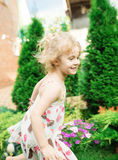 Little girl running Royalty Free Stock Photography