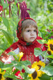 Little girl in Russian national dress Royalty Free Stock Photography