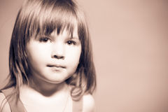 Little girl's face Royalty Free Stock Image