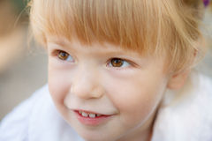 Little girl's face Stock Photo