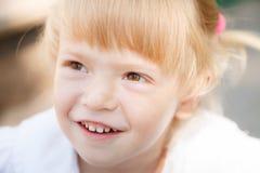 Little girl's face Stock Photography