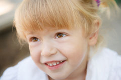 Little girl's face Royalty Free Stock Images