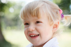 Little girl's face Stock Image