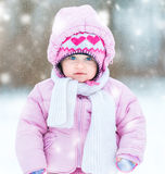 Little girl's first winter Stock Photo