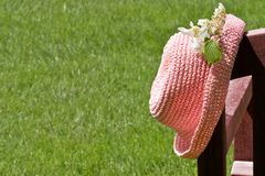 Little girl's hat Stock Image