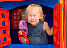 Little girl's house Stock Photos