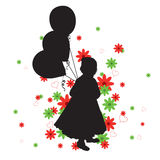 Little Girl's Silhouette Royalty Free Stock Photo