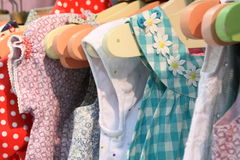 Little girls summer wardrobe stock photo