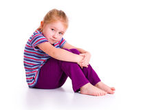 Little girl with sad expression Stock Images