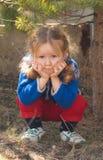 Little girl sad face Royalty Free Stock Photos
