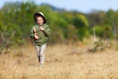 Little girl on safari Royalty Free Stock Images