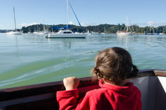 Little girl sailing Royalty Free Stock Photography
