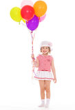 Little girl in sailor Royalty Free Stock Images