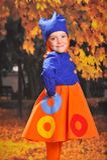 Little girl with samovar Stock Image