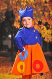 Little girl with samovar Stock Photo