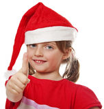 Little girl with santa cap Royalty Free Stock Photography