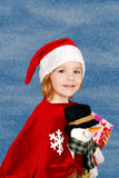 Little girl Santa Claus Stock Photography