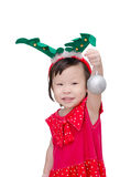 Little girl in santa claus costume Royalty Free Stock Photos