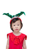Little girl in santa claus costume Royalty Free Stock Photography