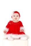 Little girl in Santa costume. Royalty Free Stock Photos