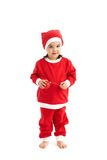 Little girl in santa costume with bulb Stock Photography