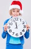 Little girl in santa hat Royalty Free Stock Photo