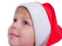 Little girl with Santa's hat Royalty Free Stock Photography