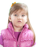 Little girl saying something Stock Image