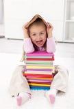Little girl scared of school Stock Photos
