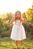 Little girl scares. Stock Photography