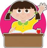 Little Girl at School Stock Photos