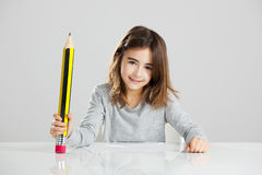 Little girl in the school Royalty Free Stock Photography