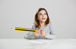 Little girl in the school Stock Photography