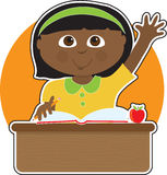 Little Girl at School Black Stock Photography