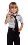 Little girl in school uniform Stock Image