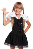 Little girl in school uniform Stock Photo