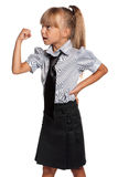 Little girl in school uniform Royalty Free Stock Photography