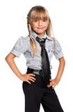 Little girl in school uniform Royalty Free Stock Photos