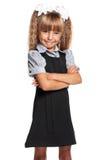 Little girl in school uniform Royalty Free Stock Image