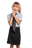 Little girl in school uniform Royalty Free Stock Photo