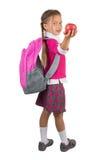 Little Girl In School Uniform Royalty Free Stock Photography