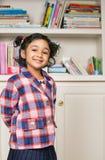 Little Girl in School Uniform. Portrait of a Little Girl in School Uniform Stock Photo