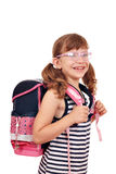 Little girl with schoolbag Stock Photography