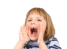 Little girl scream Stock Images
