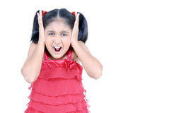 Little girl screaming Stock Images