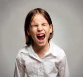 Little girl screaming Stock Photography