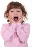 Little girl screaming Stock Photos