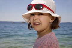 Little girl by the sea Royalty Free Stock Image